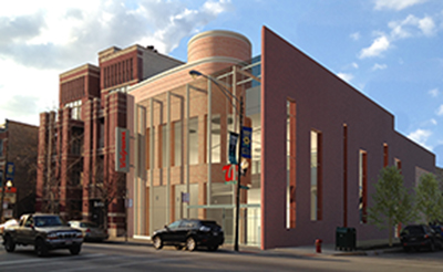 An artist's rendering of the proposed Walgreens at Armitage and Dayton, with revisions.