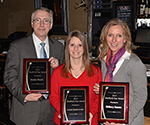 2015 Sheffield Star Award recipients Randy Royer, Laurie Dombrowski, and Hilliary Szanto at the SNA Annual Meeting. Photo for SNN by Tony Dombrowski.